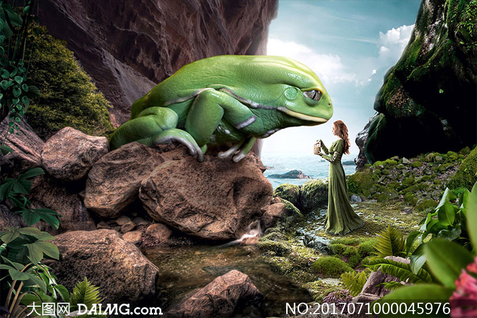 创意的童话场景合成PS教程素材