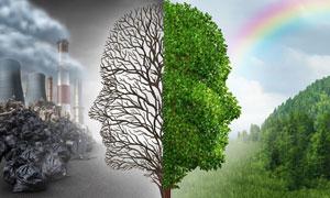 环境污染与生态环保等创意高清图片
