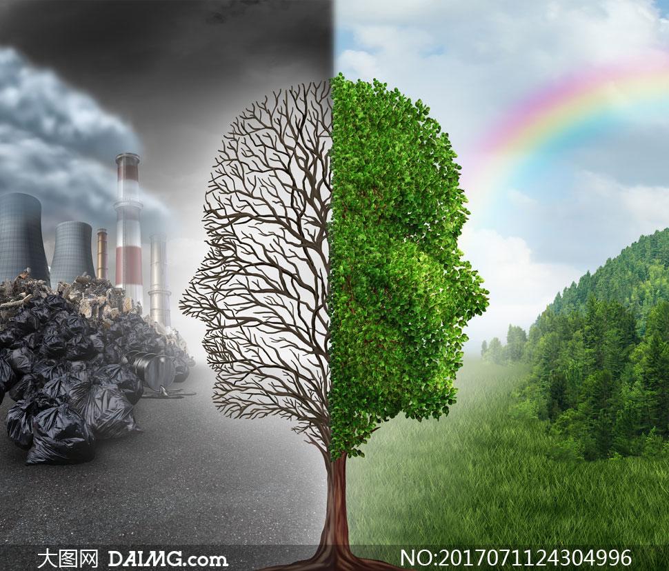 环境污染与生态环保等创意高清图片 - 大图网设计素材