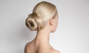 盘发造型美女人物写真摄影高清图片