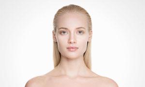 露肩长发造型美女模特摄影高清图片
