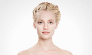 头发盘起效果造型美女摄影高清图片