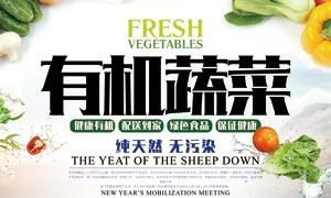 有机蔬菜宣传海报设计PSD源文件
