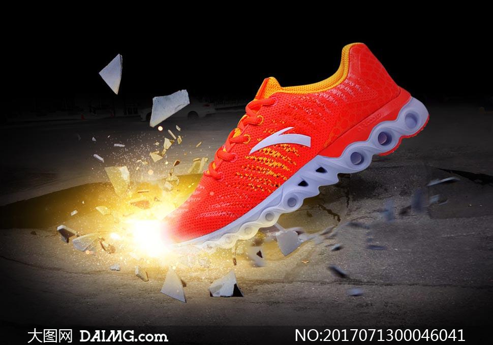 创意的运动鞋海报设计PS教程素材