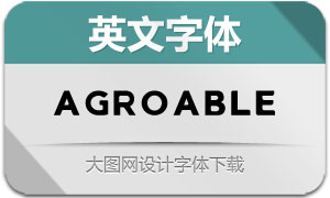 Agroable(英文字体)