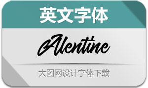 Alentine(英文字体)