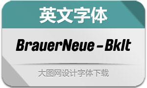 BrauerNeue-BlackItalic(英文字体)