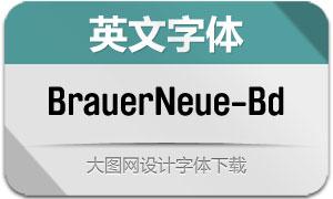 BrauerNeue-Bold(英文字体)
