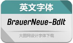 BrauerNeue-BoldItalic(英文字体)