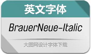 BrauerNeue-Italic(英文字体)
