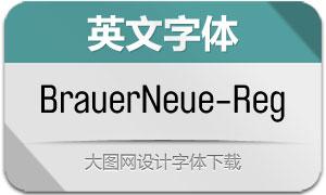 BrauerNeue-Regular(英文字体)