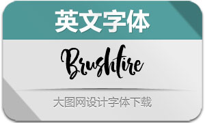 Brushfire(英文字体)