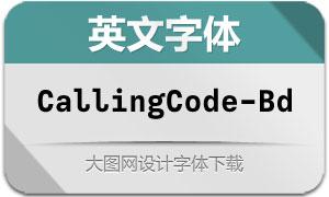 CallingCode-Bold(英文字体)