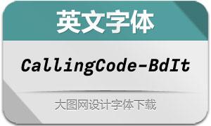 CallingCode-BoldItalic(英文字体)