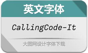 CallingCode-Italic(英文字体)