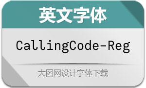 CallingCode-Regular(英文字体)