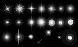 20款十字星光和阳光光晕PS笔刷