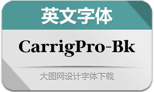 CarrigPro-Black(英文字体)