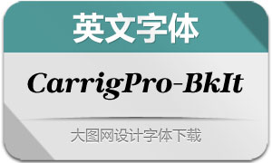 CarrigPro-BlackItalic(英文字体)