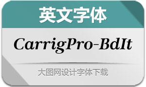 CarrigPro-BoldItalic(英文字体)