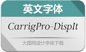 CarrigPro-DisplayItalic(英文字体)