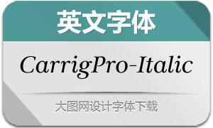 CarrigPro-Italic(英文字体)