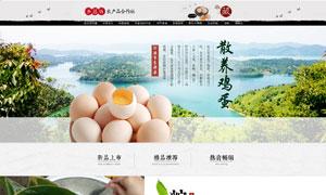 天猫农产品首页设计模板PSD素材