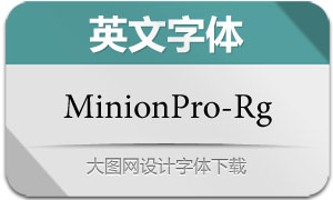 MinionPro-Regular(英文字体)