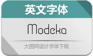Modeka(英文字体)