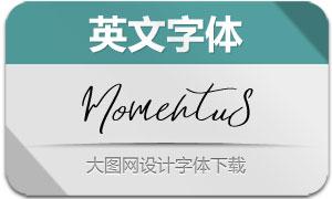 Momentus(英文字体)