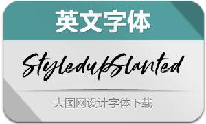 StyledupSlanted(英文字体)