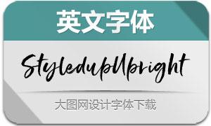 StyledupUpright(英文字体)