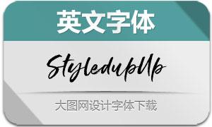 StyledupUp(英文字体)