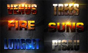 光效装饰的创意图案字体PS样式V6