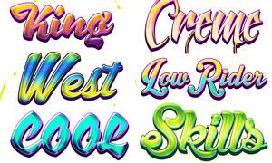 10款涂鸦主题风格艺术字设计PS样式