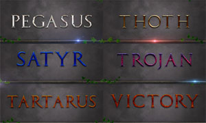 游戏主题风格艺术字PS样式