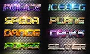 创意图案组成的艺术字PS样式V1