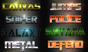 创意图案组成的艺术字PS样式V3