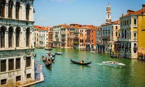 欧美水上都市美景摄影图片