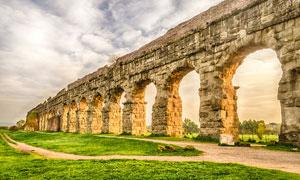 欧美古建筑遗址摄影图片