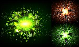 不规则碎片与耀眼光效矢量素材集V1