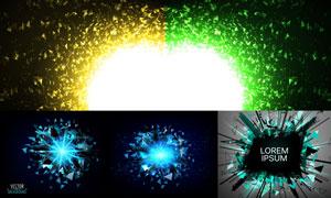 不规则碎片与耀眼光效矢量素材集V2