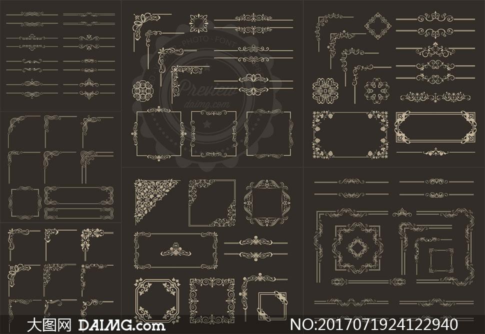 关 键 词: 矢量素材矢量图设计素材创意设计装饰边框花纹花边欧式
