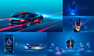 黑科技智能生活创意设计矢量素材V2