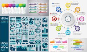 数据可视化信息图创意设计矢量素材