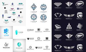钻石图形演绎变形组合标志矢量素材
