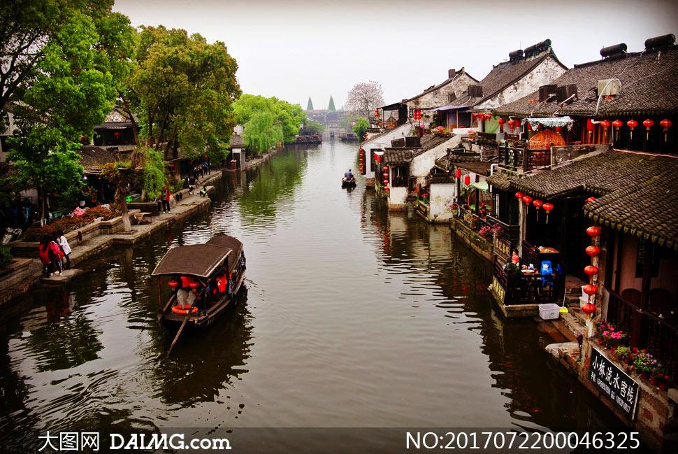 江南水乡古镇景色摄影图片