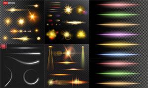 耀眼夺目装饰光效元素矢量素材V02