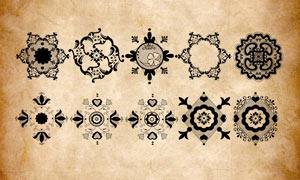 16款欧式古典花纹装饰PS笔刷