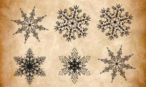 创意的雪花形状PS笔刷